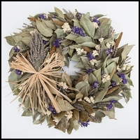 Lavender Meadow Wreath