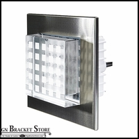 LED Step And Wall Light - 12V Low Voltage Crystal Stainless Steel Recessed Brick