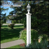 Lexington Lamp Post with Aluminum Ground Mount- White