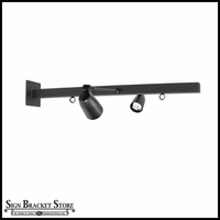 Lighted 30in. Universal Straight Arm Bracket for Hanging Signs