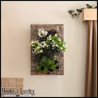 Living Wall Kit with Modern Frame - Stacked Stone