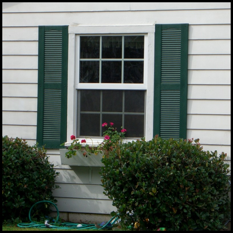 Vinyl Louvered Shutters - Exterior, Decorative