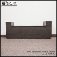 Madera Fiberglass Bench w/ Storage Option (2 Armrests) - 60in.L x 18in.W x 18in.H