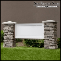 Mainstay Model Monument Sign - Faux Stone & Faux Concrete - 8ft.L x 4ft.H