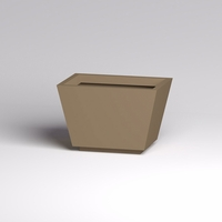 Marek Fiberglass Tapered Rectangular Planters