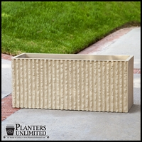 Mason Rectangle Corrugated Concrete Planters