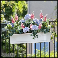 Medallion All-In-One Railing Planter Kit