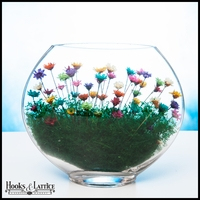 Medium Smushed Terrarium - Rainbow Flowers