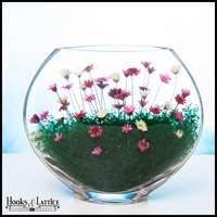 Medium Smushed Terrarium - Red, Pink, & White Flowers
