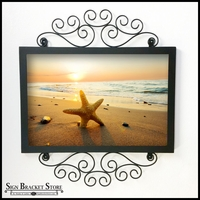 Mendocino Flush Mount Sign Frame w/ Scrolls - 18in. x 24in. Opening