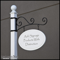 "Milano Hanging Sign Post System - 4"" Square Post"