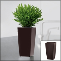 Min-Well Planter, 4in x 4in x 7in - Espresso