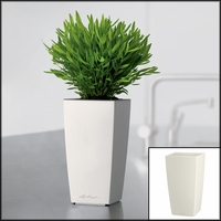 Min-Well Planter, 4in x 4in x 7in - White High-Gloss