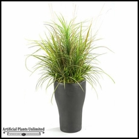 Mixed Grasses in Tall Resin Planter, 40 in.