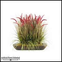 Mixed Onion Grasses in Oblong Wooden Planter, 36 in.