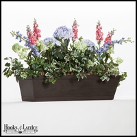 72in. Modern Farmhouse Window Box - Reclaimed Dark Hickory Finish