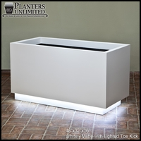 Modern Fiberglass Planter with Illuminated Toe Kick