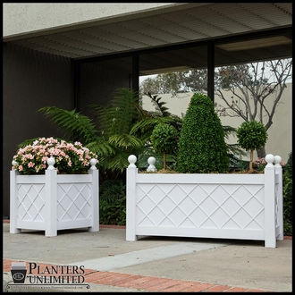 French Lattice Premier PVC Planters