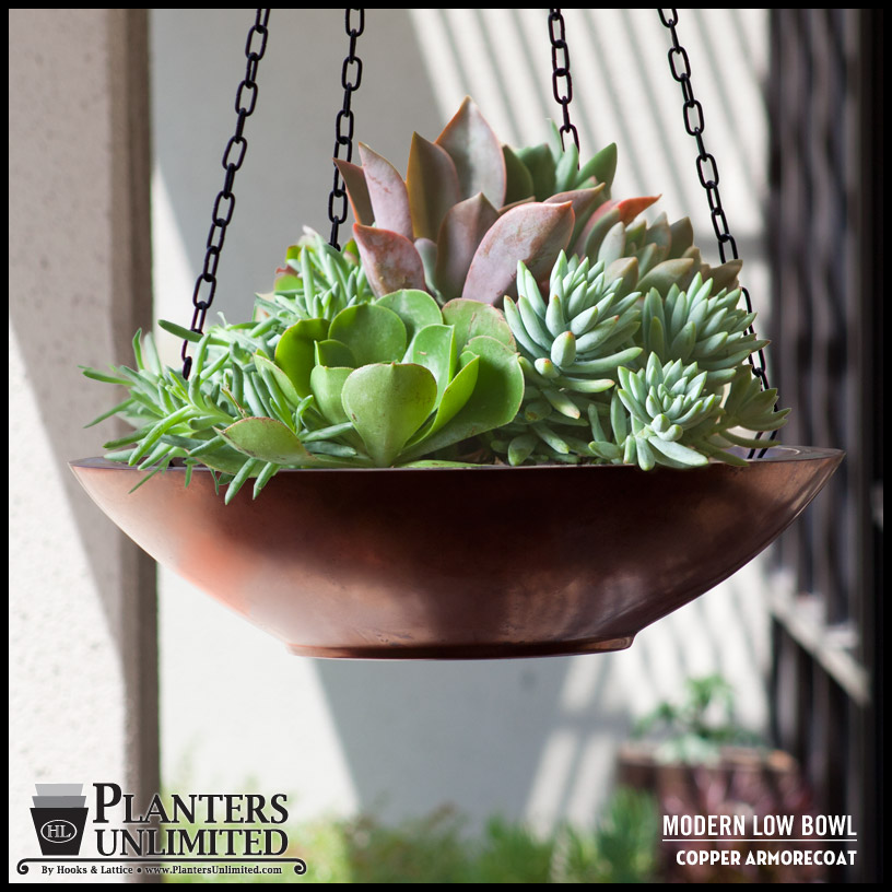 Fiberglass Modern Hanging Planters by Planters Unlimited