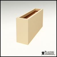 "Modern Rectangle Planter 48""L x 12""W x 24""H"