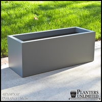 "Modern Rectangle Planter 48""L x 18""W x 18""H"