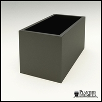 "Modern Rectangle Planter 48""L x 24""W x 24""H"