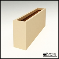 "Modern Rectangle Planter 60""L x 12""W x 24""H"