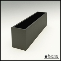 "Modern Rectangle Planter 84""L x 18""W x 24""H"