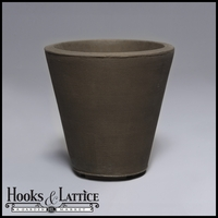 Mondrian 16in. Tapered Planter - Antique Bronze