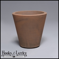 Mondrian 16in. Tapered Planter - Rust