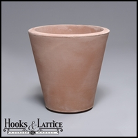 Mondrian 16in. Tapered Planter - Weathered Terra Cotta