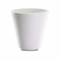 Mondrian 16in. Tapered Planter - Alpine White