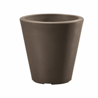 Mondrian 16in. Tapered Planter - Bark