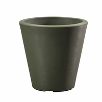 Mondrian 16in. Tapered Planter - Olive