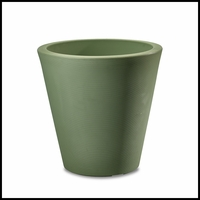Mondrian 14in. Tapered Planter - Sage