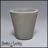 Mondrian 20in. Tapered Planter - Weathered Greystone