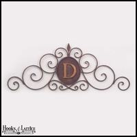 Monogrammed Scroll Topper
