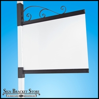 """48in. Montarino Channel Bracket for 4"""" Square Post"""