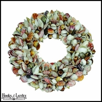 Multi-Color Shell Wreath