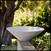 Nepal Weathered Stone Low Bowl Planter 32in. Dia. x 10.5in. H