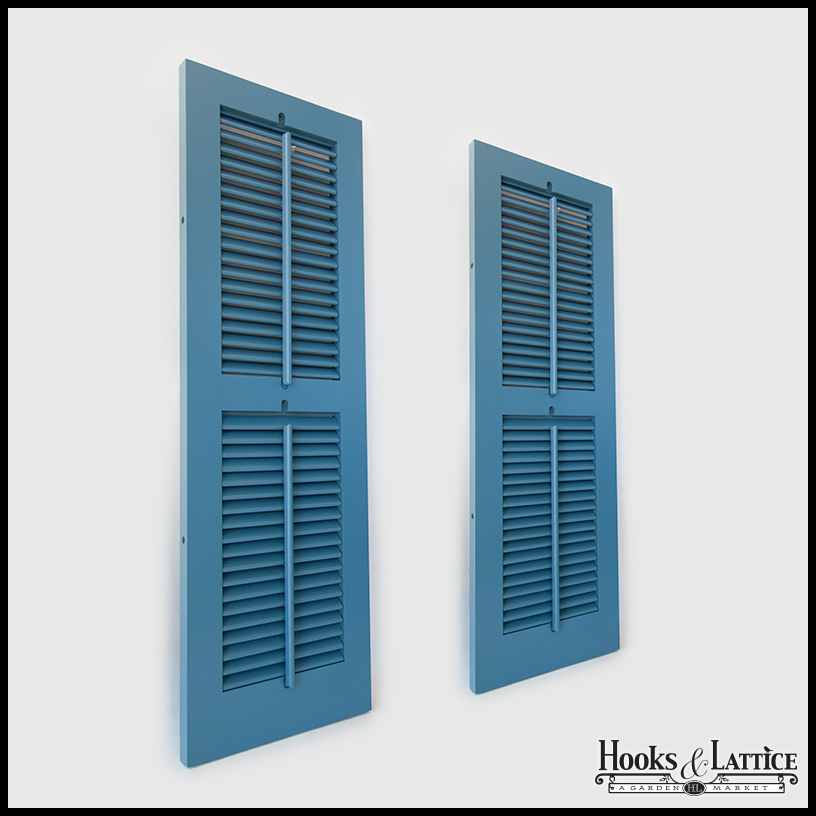 Never fail louvered pvc composite shutters for Used exterior shutters