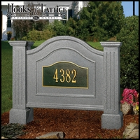 Northwood Double Post and Panel Address Sign - Granite