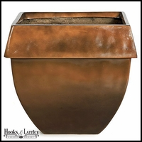 O'Banion Glossy Fiberglass Tapered Square Planter