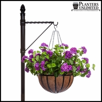 One-Way Twisted Arm  Hanging Basket Bracket