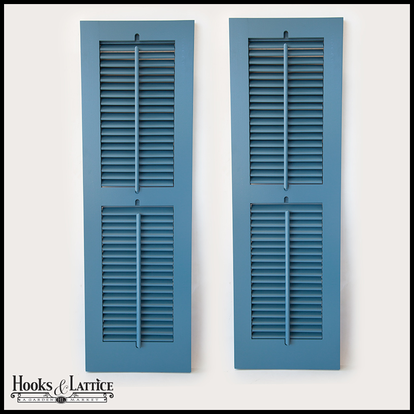 Operable Louvered Exterior Shutters By Hooks Lattice