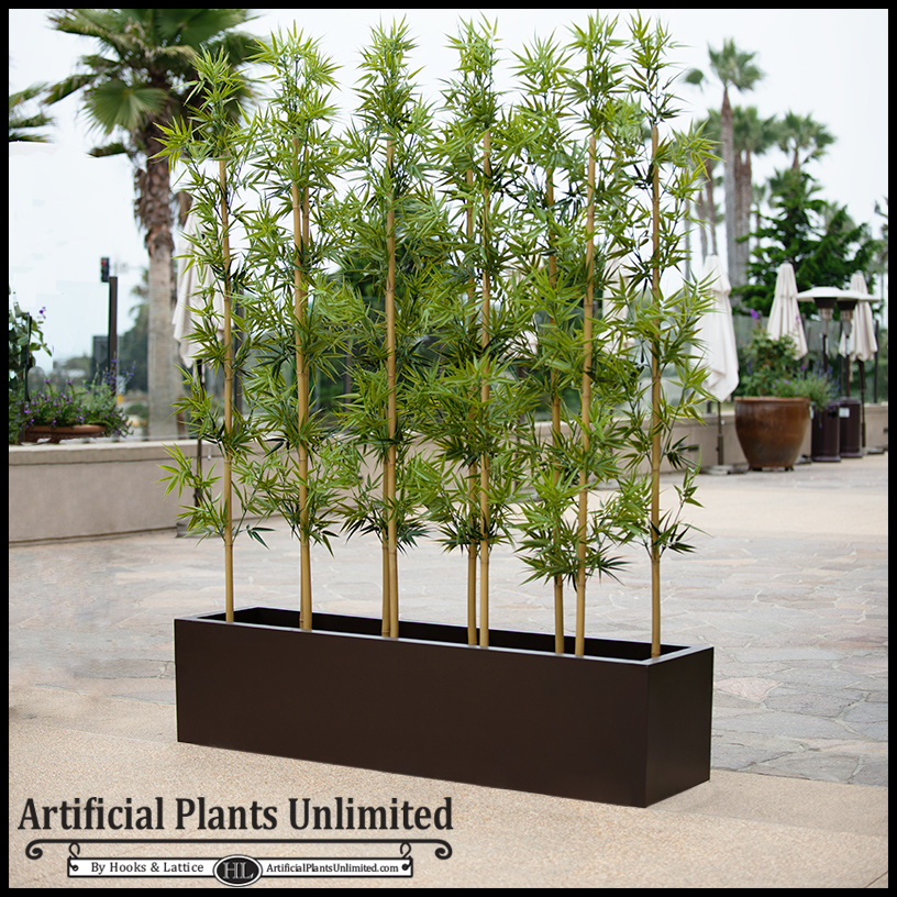 Indoor Artificial Bamboo Grove In Modern Planter 48 L