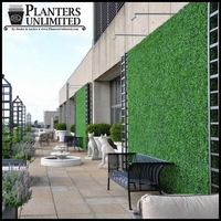 Outdoor Artificial Boxwood Living Wall