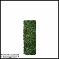 48inH Boxwood Cylinder Pillar Topiary, Fire Retardant