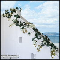Outdoor Artificial Vines- 9-1/2 Feet Garland -Cream