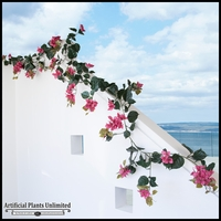 Outdoor Artificial Vines- 9-1/2 Feet Garland -Fuchsia